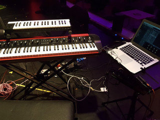 Keyboard setup for the Zara McFarlane Band 2018 UK tour