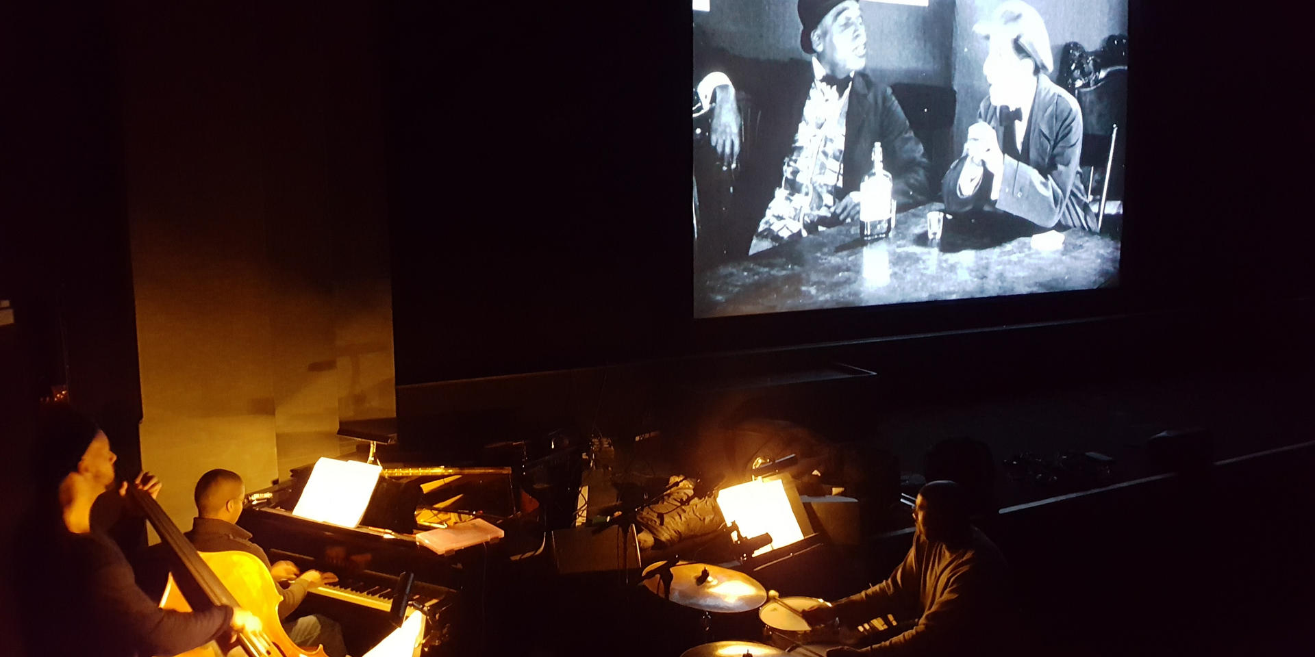 Performing silent film commissionw 'Body and Soul Suite' at the British Film Institute London