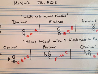Minor triads in root position