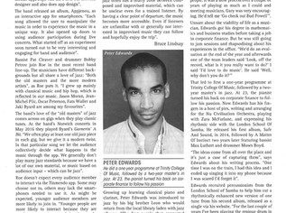 Interviewed for Jazz Journal by David West