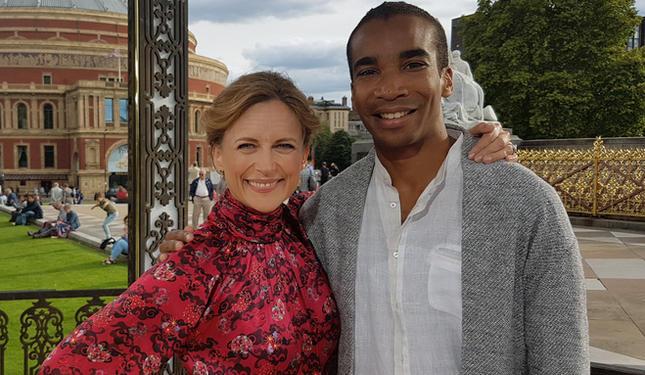 With Katie Derham for 'BBC Proms Encore'