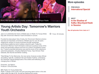 Jazz on 3 celebrates the future of British jazz on Radio 3's Young Artists Day