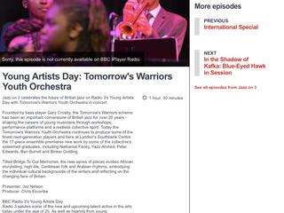 Jazz on 3 celebrates the future of British jazz on Radio 3's Young Artists Day