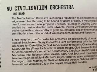 On the Nu Civilisation Orchestra