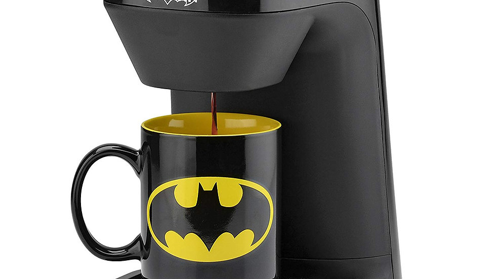 DC Batman DCB-123CN Batman Single Serve Coffee Maker Black/Yellow