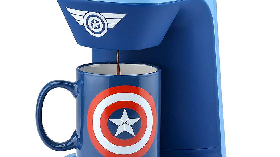 Marvel Captain America 1-Cup Coffee Maker with Mug