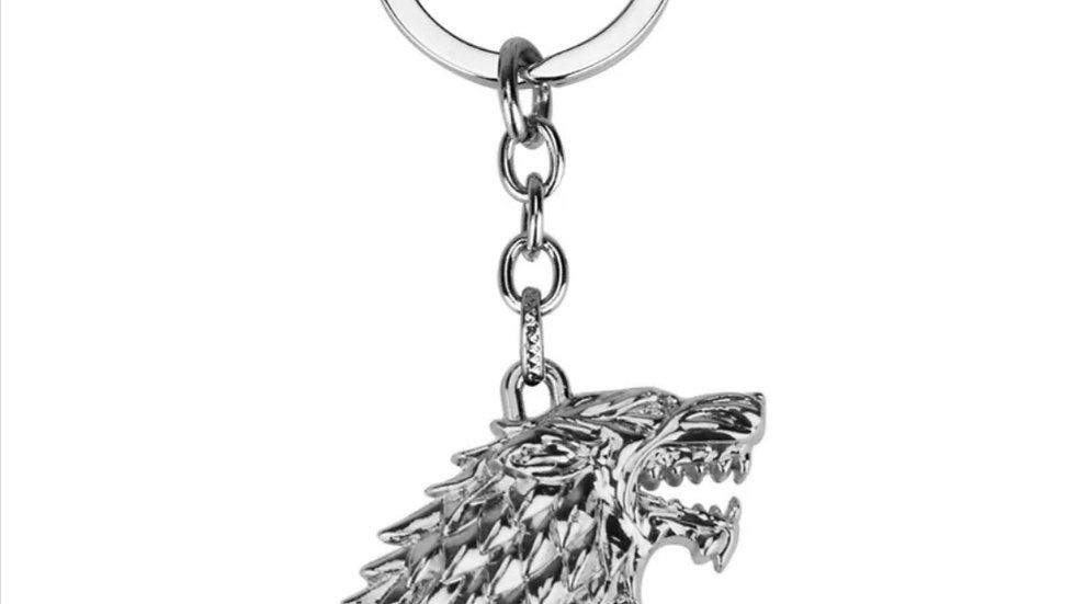 Official GOT Keychain - House Stark Wolf