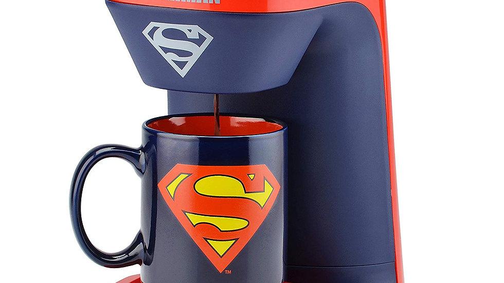 DC Superman 1-Cup Coffee Maker with Mug