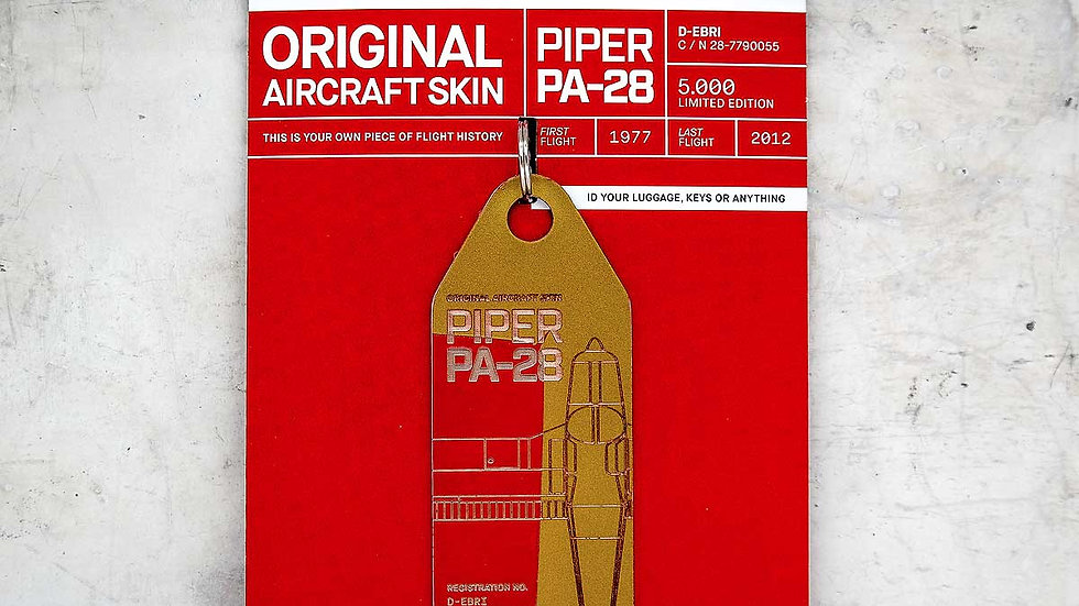 Piper PA28 – D-EBRI (gold-red)