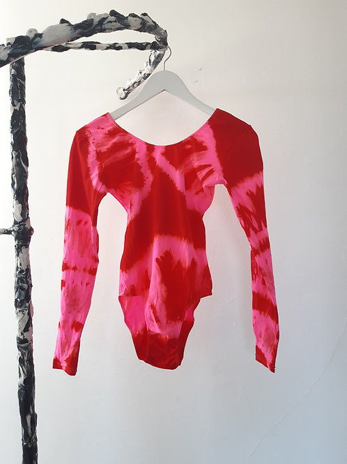 neon pink red, L