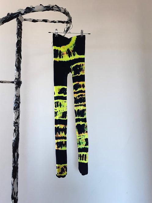 neon yellow  black