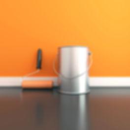 Schilder in soest verft muur oranje bij Schildersbedrijf