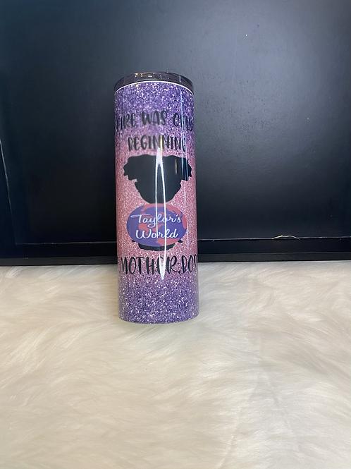 20 oz Pink and Purple Sparkle Logo