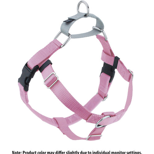 FREEDOM No-Pull Harness and Leash - Rose Pink/Silver