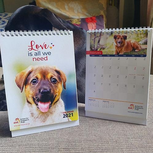 ASD 2021 Calendar - Love is all we need