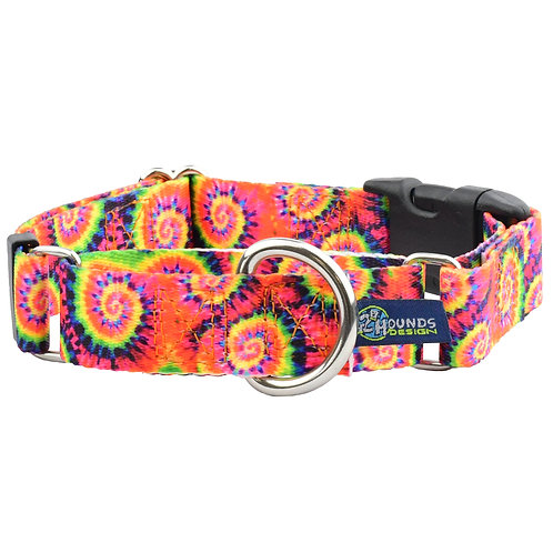 Classic Tie Dye - Buckle Martingale Dog Collar – EarthStyle