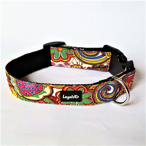 Loyal.D WIDE Canvas.D Collar - Happy Hippy