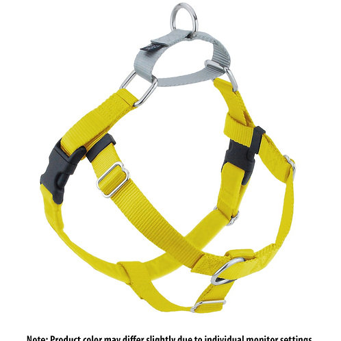 FREEDOM No-Pull Harness and Leash - Yellow/Silver