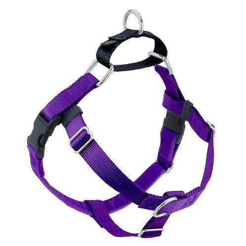 FREEDOM No-Pull Harness & Leash - Purple/Black