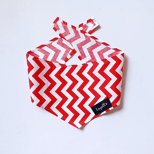 Loyal.D Bandana - Zig Zag Red