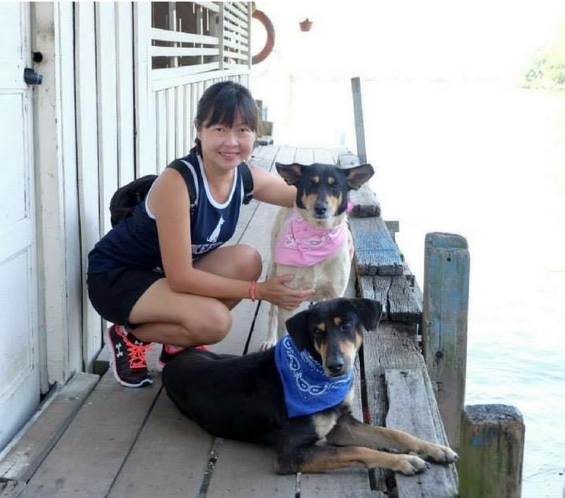 Su Lin with P.Ubin DOGS
