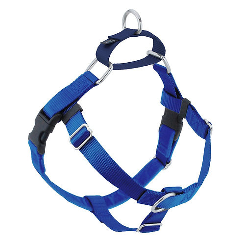 FREEDOM No-Pull Harness & Leash-RoyalBlue/NavyBlue