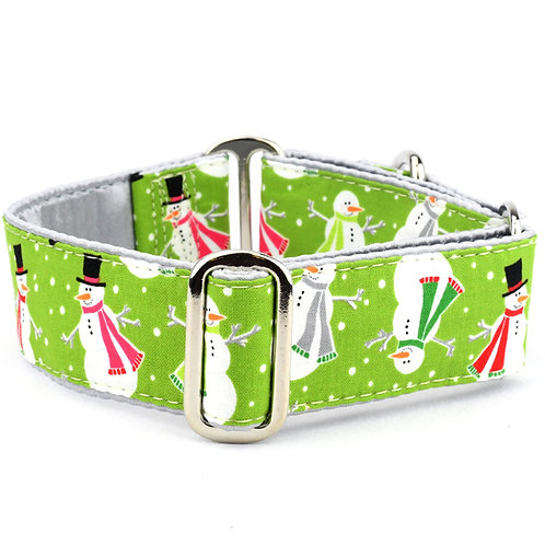 2Hounds - Snowy Day Green (Buckle Martingale Collar)