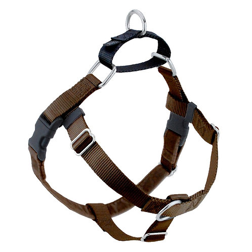 FREEDOM No-Pull Harness & Leash - Brown / Black