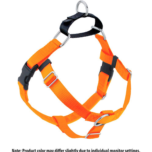 FREEDOM No-Pull Harness & Leash -Neon Orange/Black