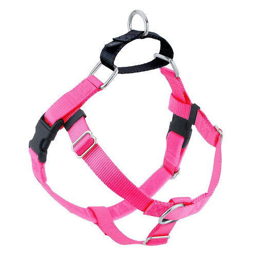 FREEDOM No-Pull Harness & Leash - Hot Pink/Black