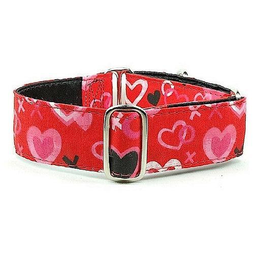 "XOXO - Satin Lined Buckle Collar - 1"" & 1.5"" width"