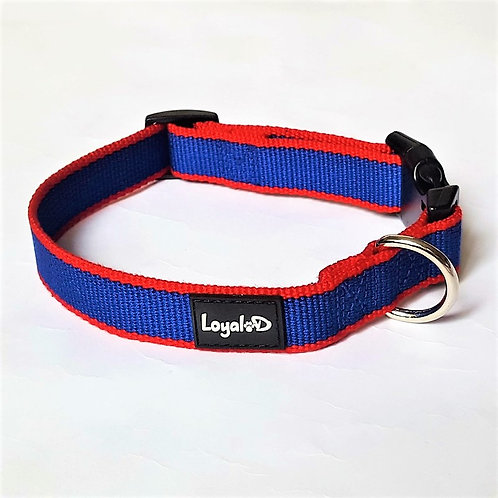 Bamboo.D Collar - Navy with Red trim