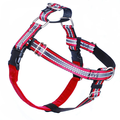 FREEDOM No-Pull Harness Leash - REFLECTIVE Red