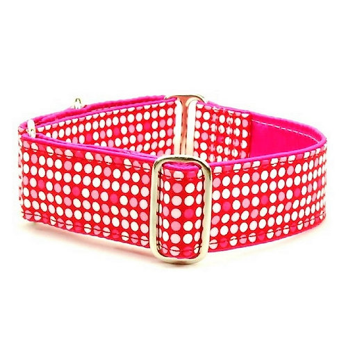 "Love & Disco - Satin Lined Buckle Collar - 1"" & 1.5"" wide"