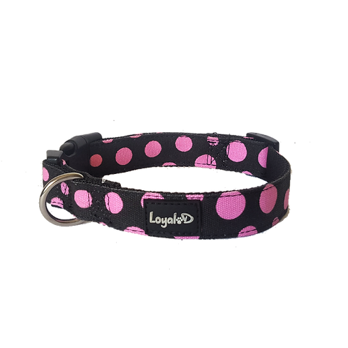 Loyal.D Canvas.D Collar - Get Spott.D (Pink) - WIDE 1.5 inch width