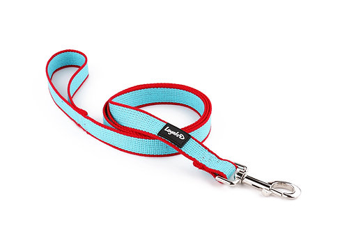 Bamboo.D Lead - Sky Blue with Red trim