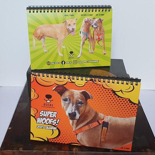OSCAS 2021 Calendar - SUPER Woofs
