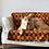 Thumbnail: Loyal.D Pet Blankie - Earthy Orange Ikat