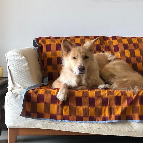 Loyal.D Pet Blankie - Earthy Orange Ikat