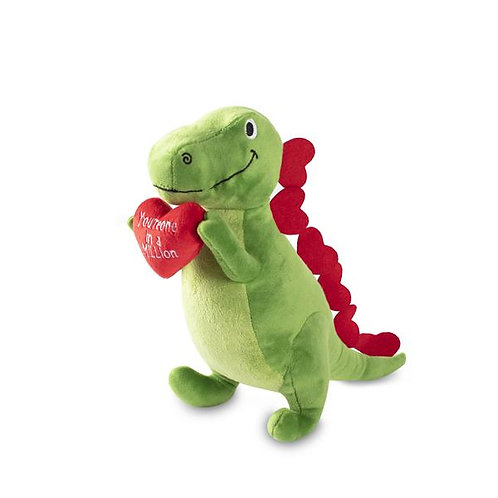 LOVE TO LAST A MILLION YEARS REX - Dog Squeaky Plush Toy