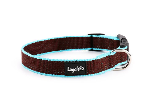Bamboo.D Collar - Brown Sky Blue trim