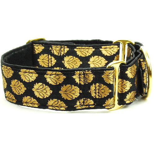 "Gold Leaf - LIMITED - Satin Lined Buckle Collar - 1.5"" wide"