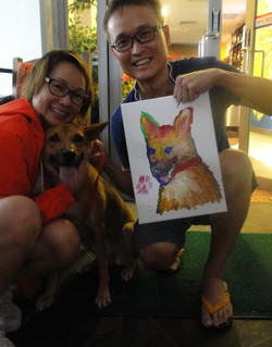 Adopted dog gets portrait painted