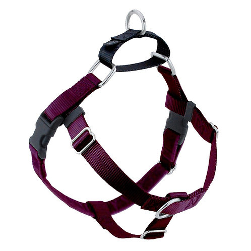 FREEDOM No-Pull Harness and Leash - Burgundy/Black