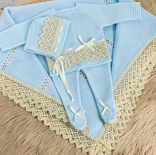BLUE LACE BLANKET- BAMBINO COLLECTION