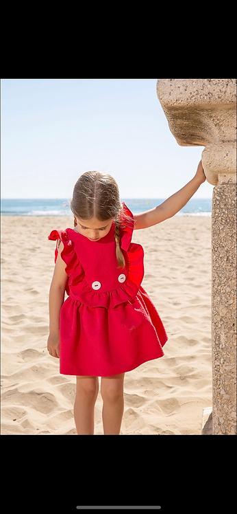 RAYA RED FRILL DRESS