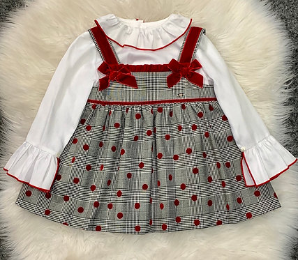 HOLLY PINAFORE DRESS & SHIRT SET