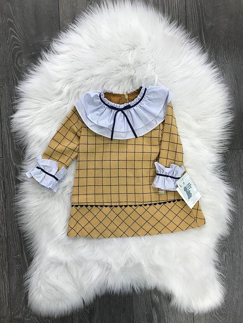 'Montana' Ruffle Neck Dress