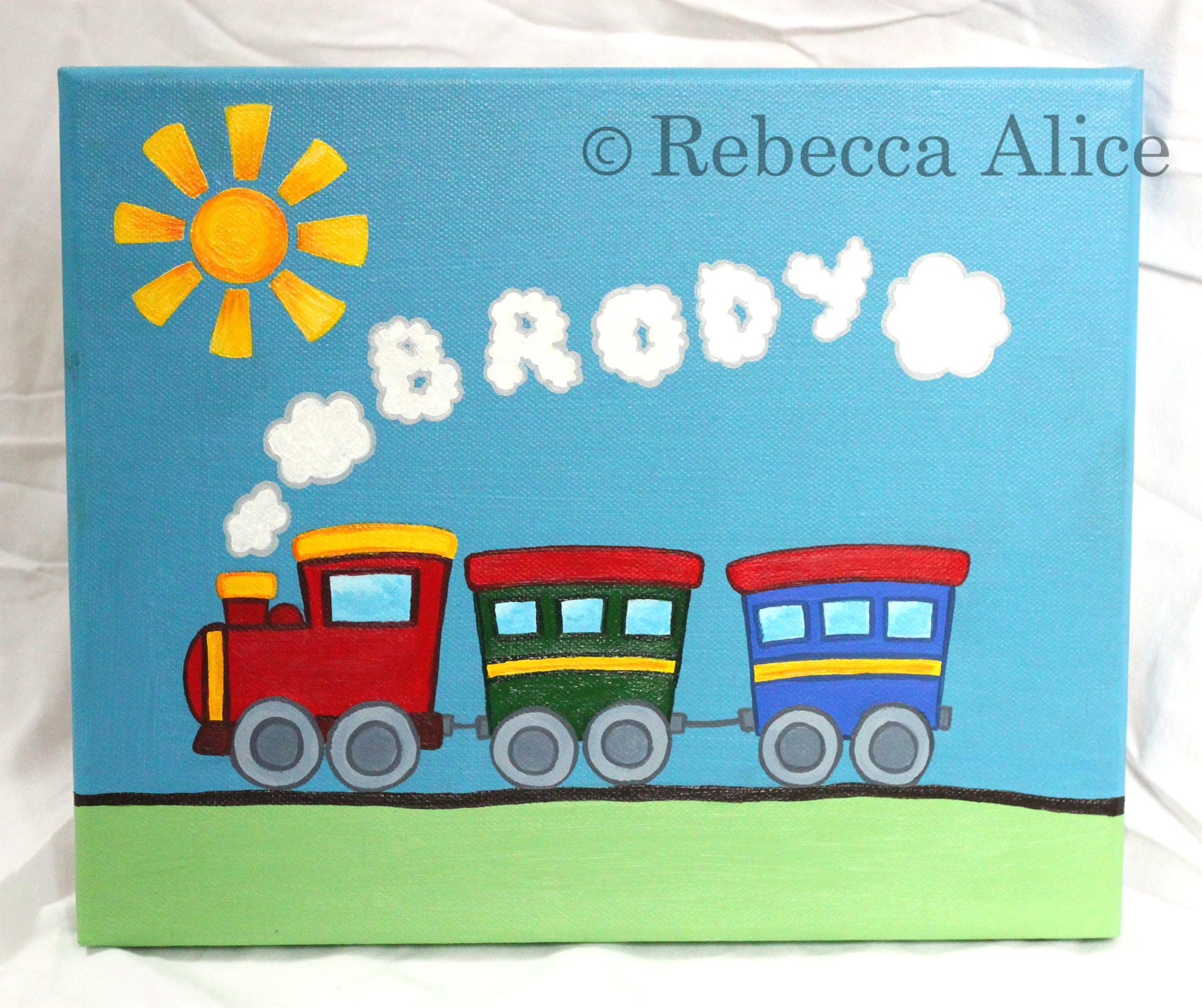'Brody' Train Canvas