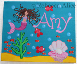 'Amy' Mermaid Canvas